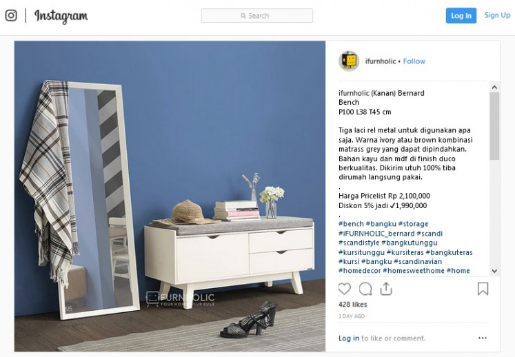 For small spaces: Online furniture store iFURNHOLIC develops a range of multipurpose furniture pieces that are suitable for small houses. One of them is the Bernard Bench, a dresser with a seat.