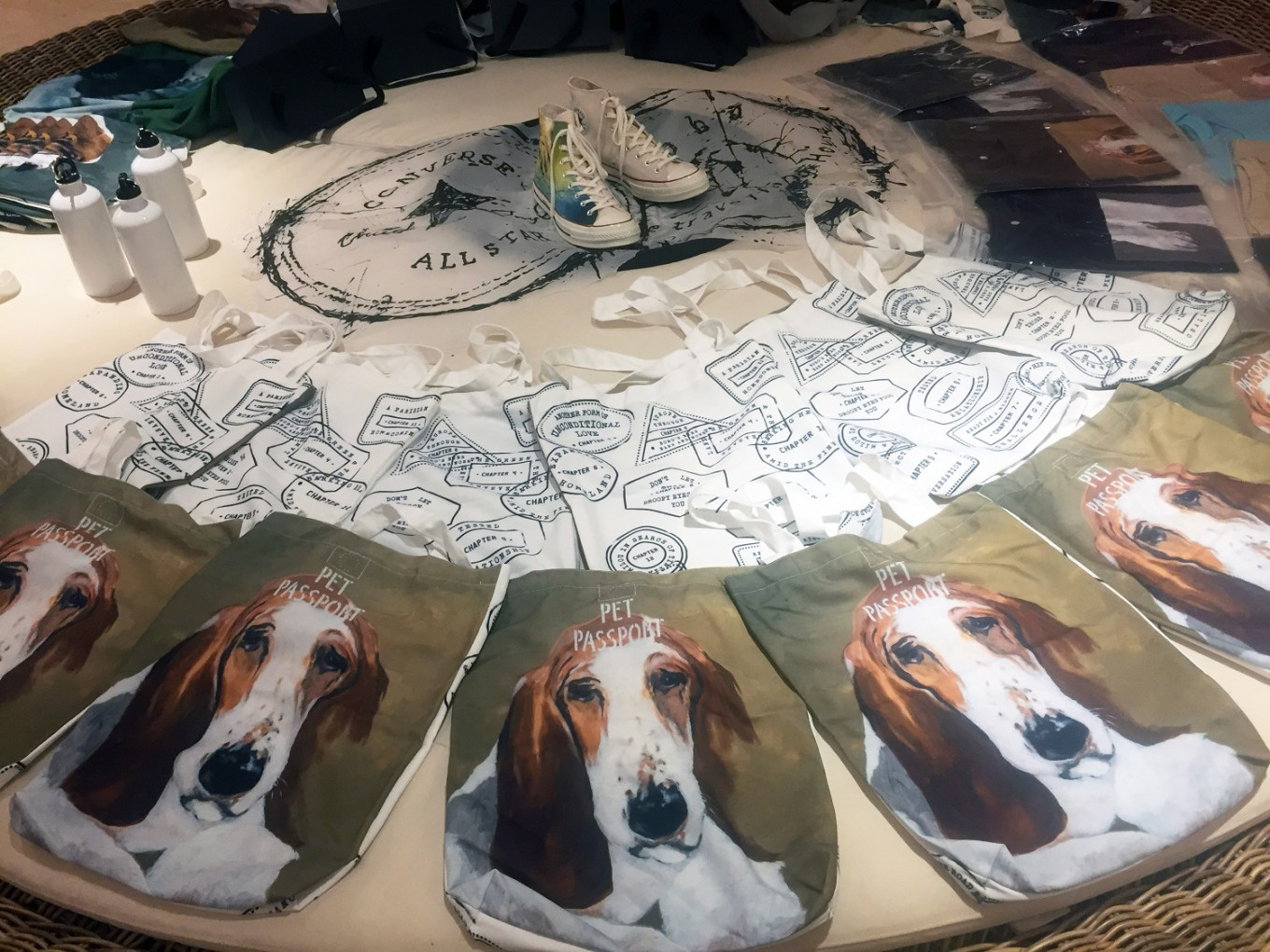 Hanafi's artworks adorn 'Bobo: The Traveling Hound' merchandise.