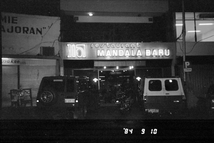 Restoran Mandala Baru di kawasan Pasar Mayestik, Jakarta Selatan, 10 September 1984.