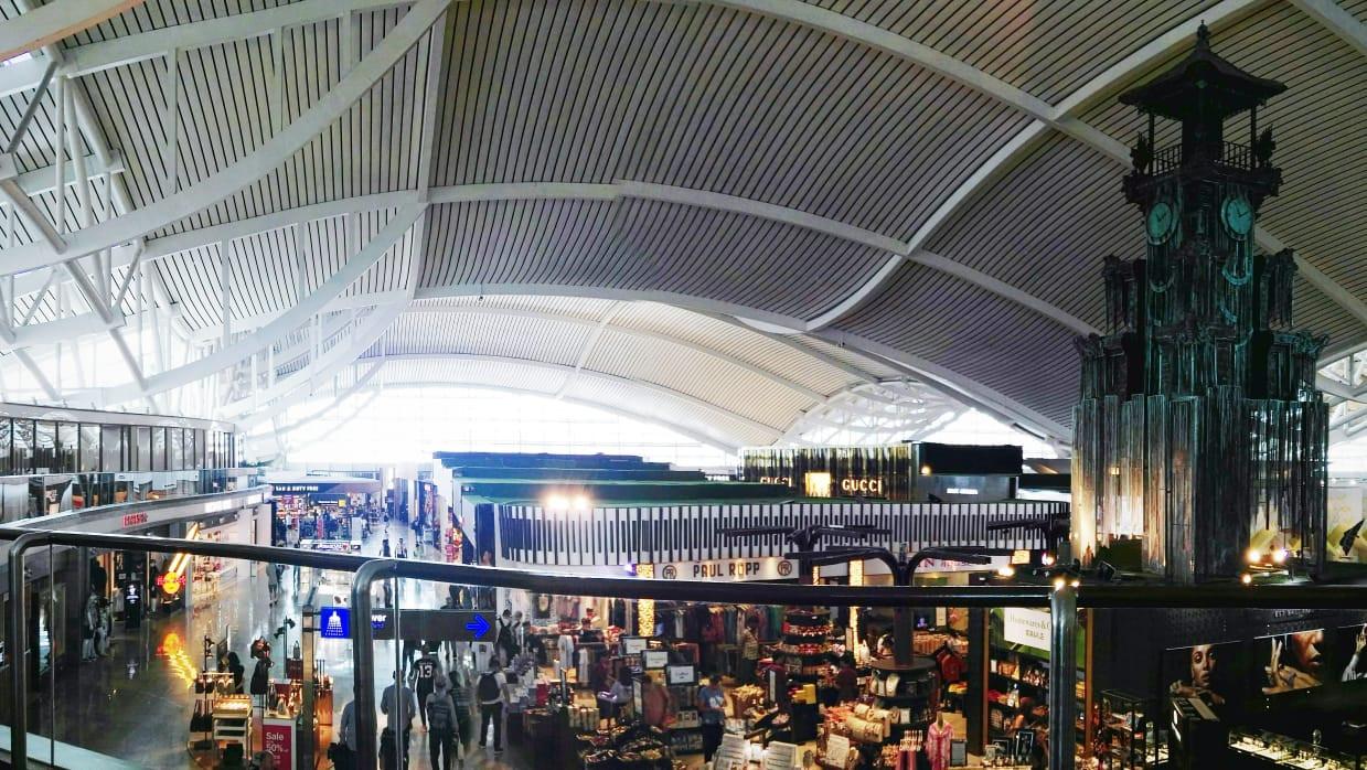International departure terminal at Ngurah Rai International Airport, Bali