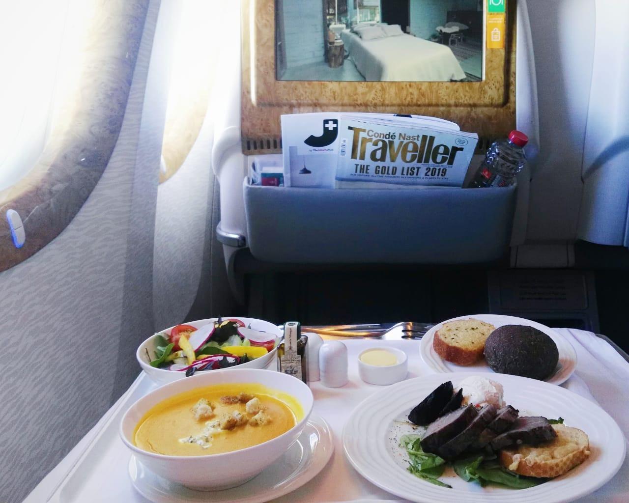 Appetizers aboard EK451 Auckland-Denpasar