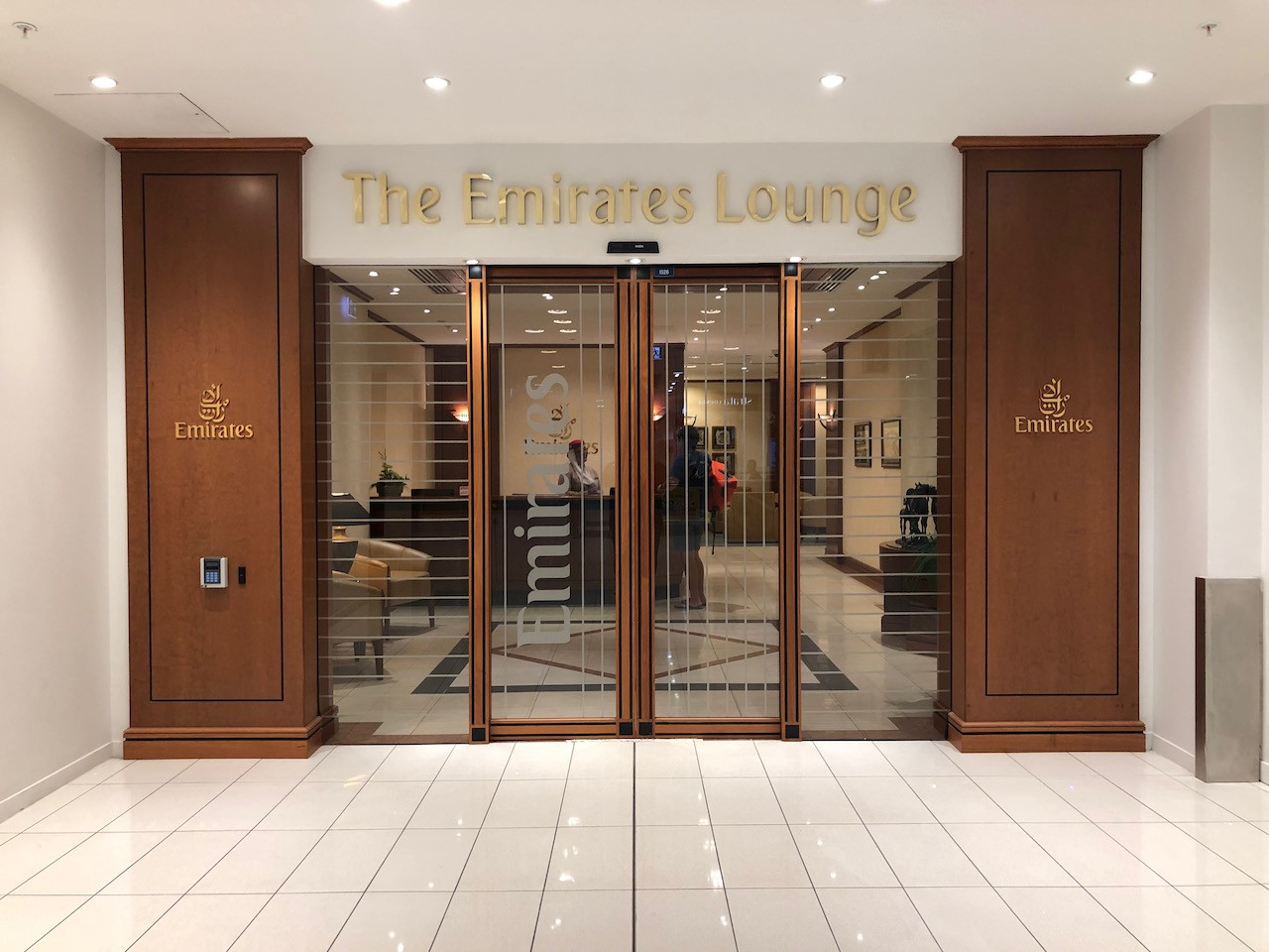 Emirates Lounge at Auckland International Airport, New Zealand