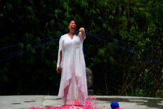 Nerisa of the Philippines performs a dance at the festival. JP/Maksum Nur Fauzan