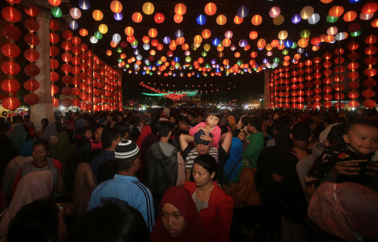 Chinese New Year celebrations in Surakarta, Central Java, have drawn tourists to the city.