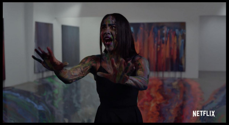 Immersion: A colorful end meets Zawe Ashton's character, art assistant Josephina.