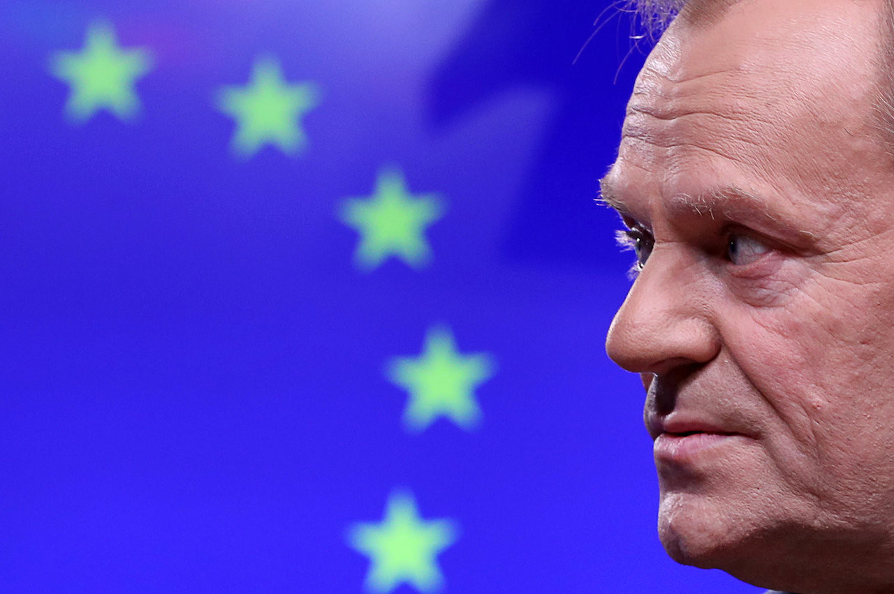 EU's Tusk rebuffs May, says no-plan Brexiteers deserve 'place in hell'