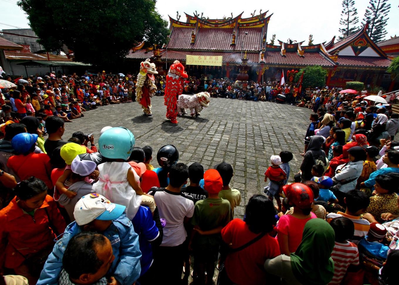 'Barongsai' performance in diverse Malang
