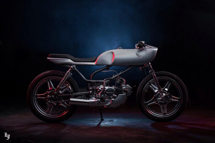 Into the future: Lawless Jakarta gives a cafe racer treatment to Honda Win.