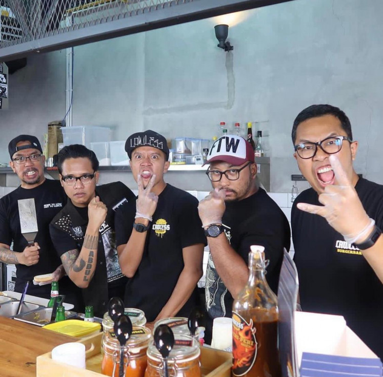 The Fab Five: Lawless Jakarta was founded by (from left to right) Arian Arifin, Gofar Hilman, Sammy Bramatyo, Ucup and Roni Pramaditia.