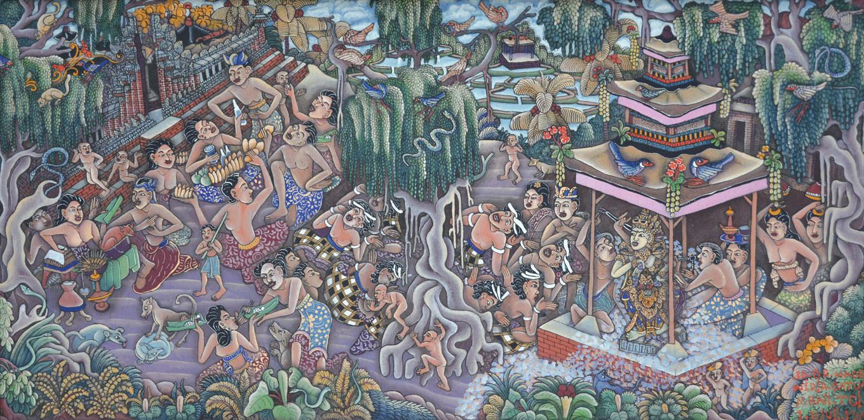 'Village Scene in Batuan' by Ida Bagus Made Widja