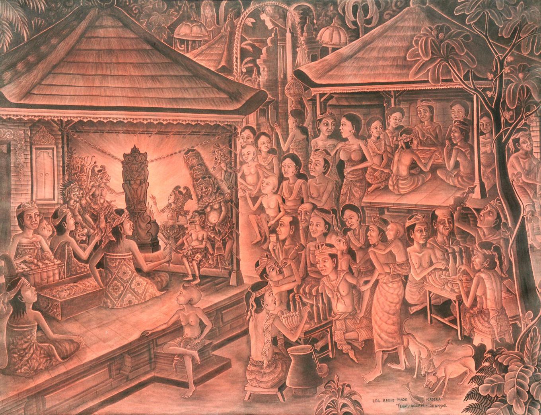 'Nonton Wayang' by Ida Bagus Made Nadera