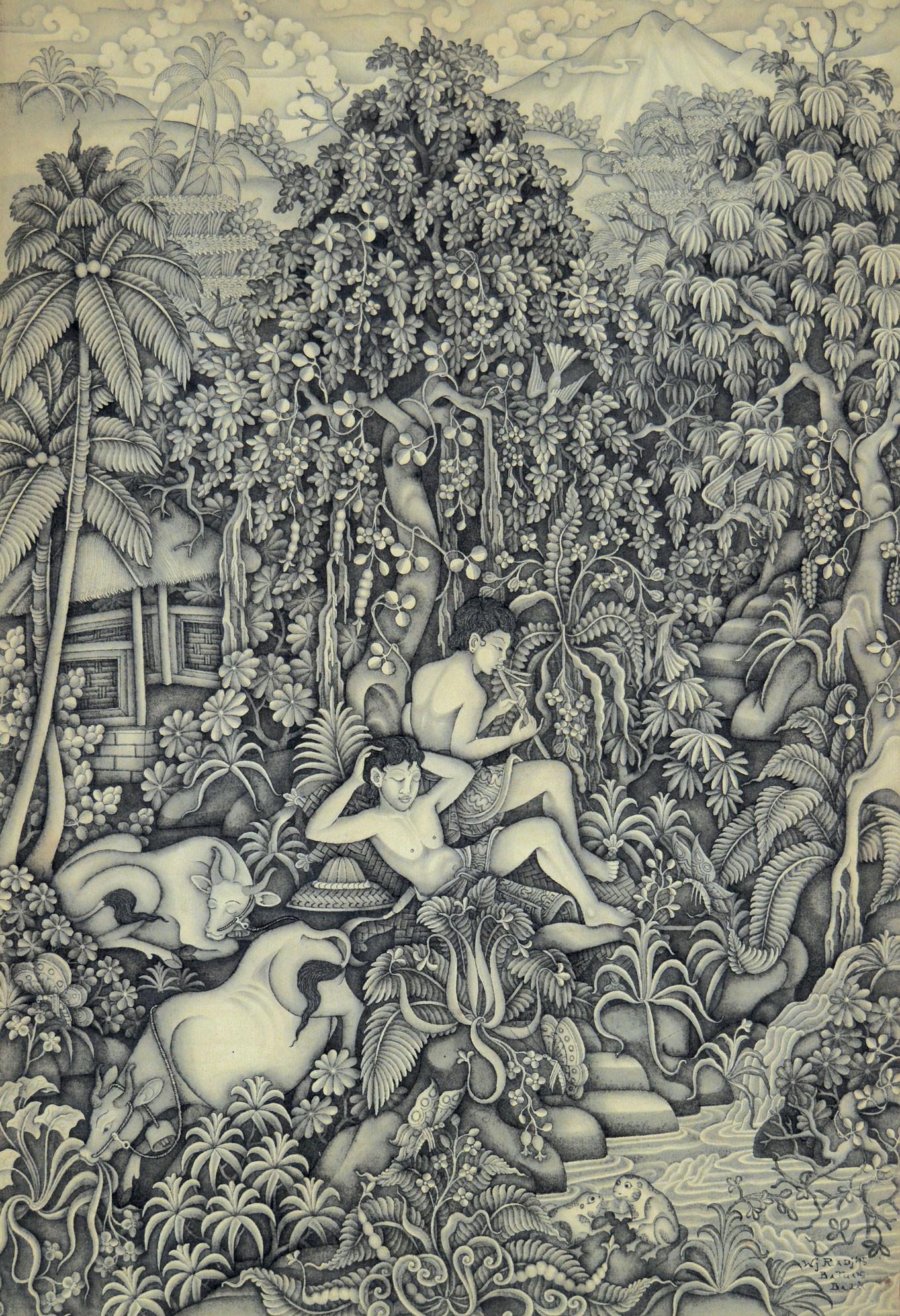 'Gembala Sapi' by Wayan Radjin