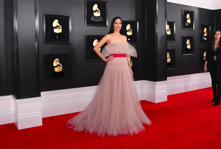 US singer-songwriter Kacey Musgraves arrives for the 61st Annual Grammy Awards on February 10, 2019, in Los Angeles.