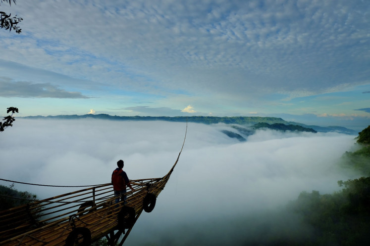 Head in the clouds at Yogyakarta's clifftop tourist spot, Jurang Tembelan