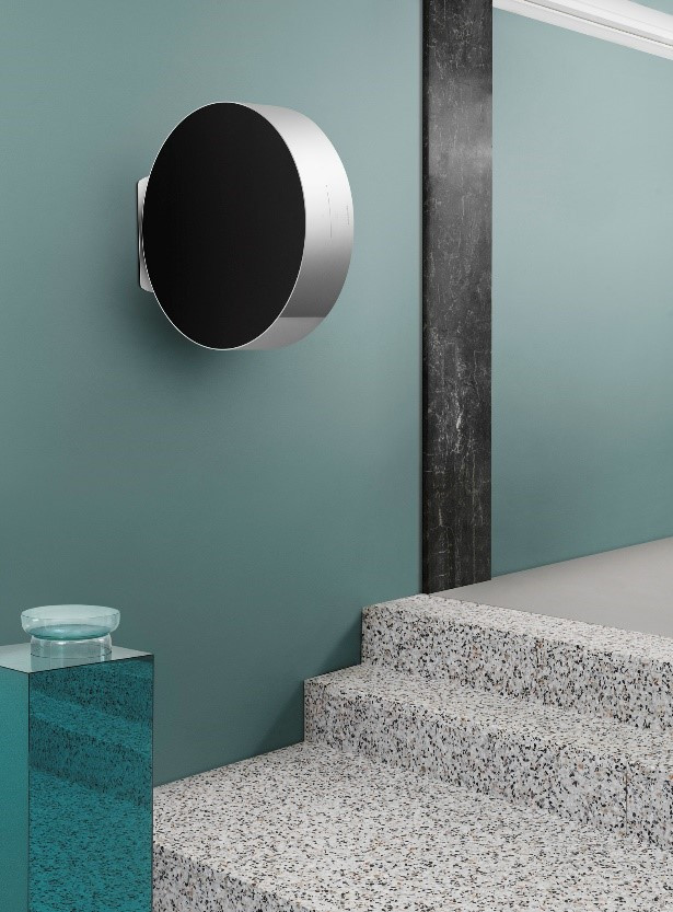 Discreet in design, yet unforgettable in performance. The new Beosound Edge.