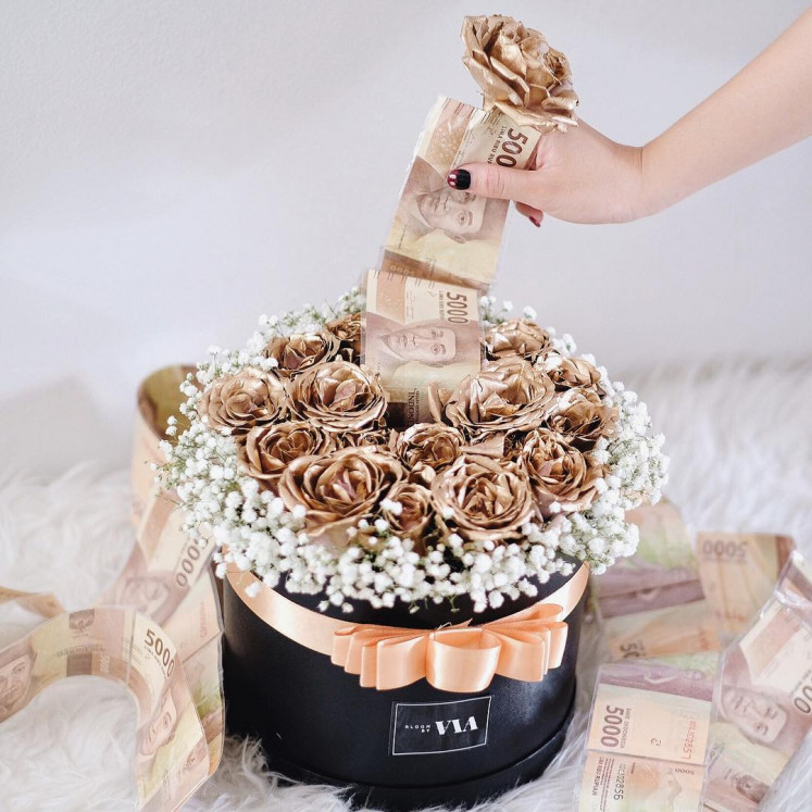 The gift that keeps on giving: Silvia, owner of Instagram based florist @bloombyvia, said that money bouquets were more popular as birthday or graduation gifts than as Valentine's Day gifts.