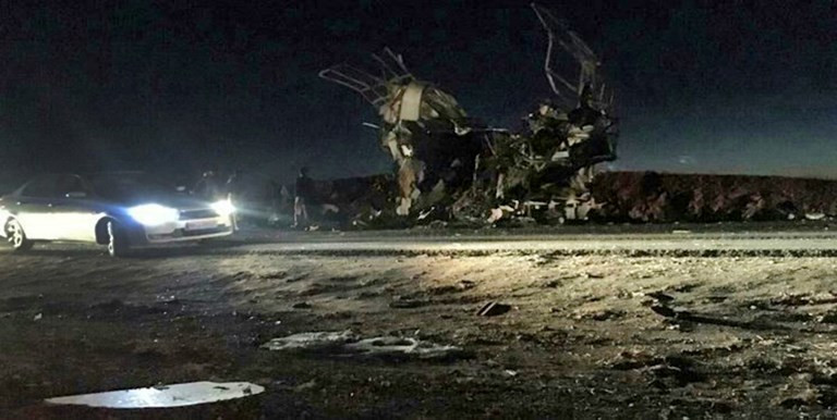 Suicide attack on Iran Revolutionary Guards bus kills 20: State news agency