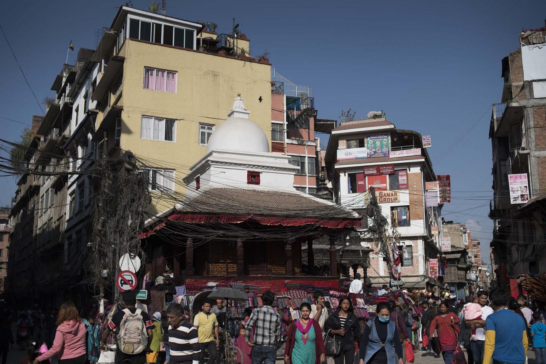 An intersection in Kathmandu. JP/Rosa Panggabean