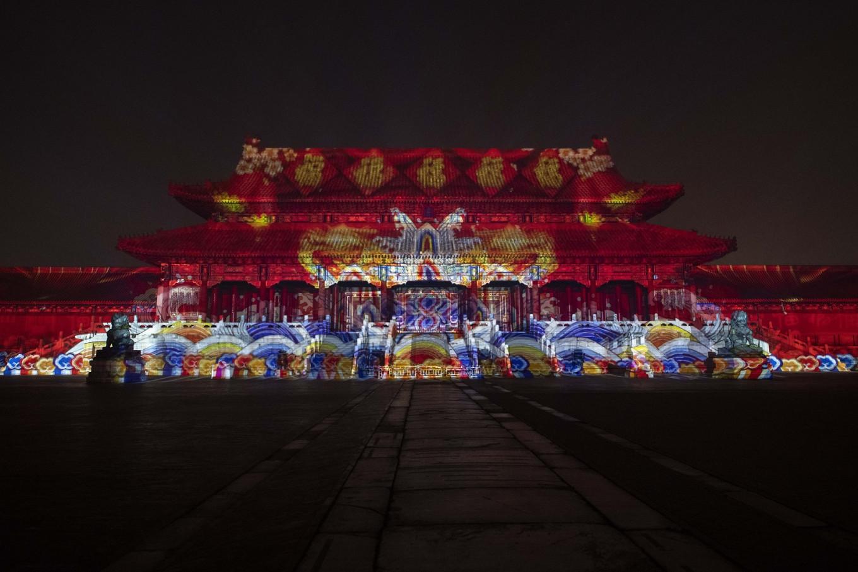 Beijing's Forbidden City in historic light show