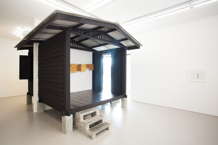 An early work by Shooshie Sulaiman, 'Sulaiman Bought a Home', in an installation at the Tomio Koyama Gallery in Singapore in 2013.
