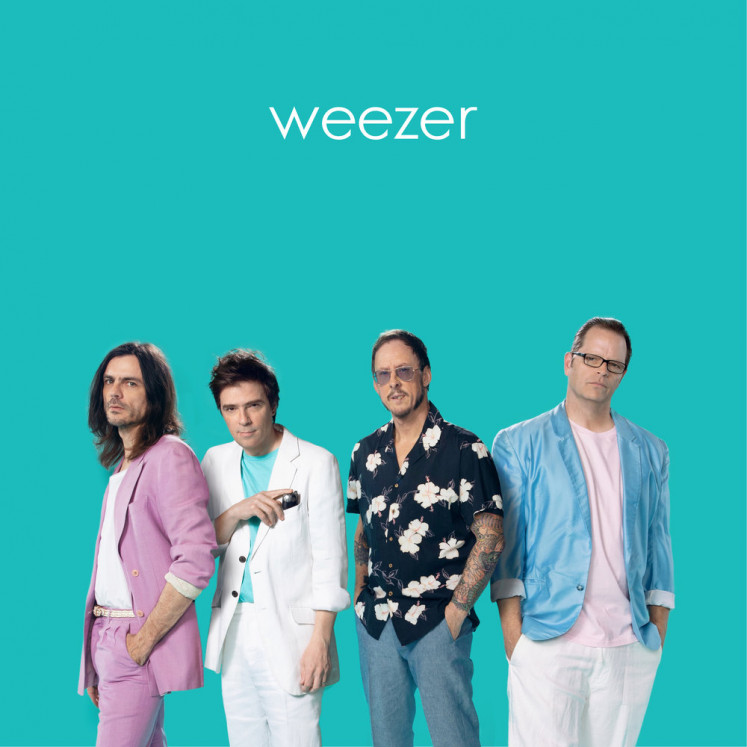 Weezer perfect the art of white boy yelping, one color scheme at a time
