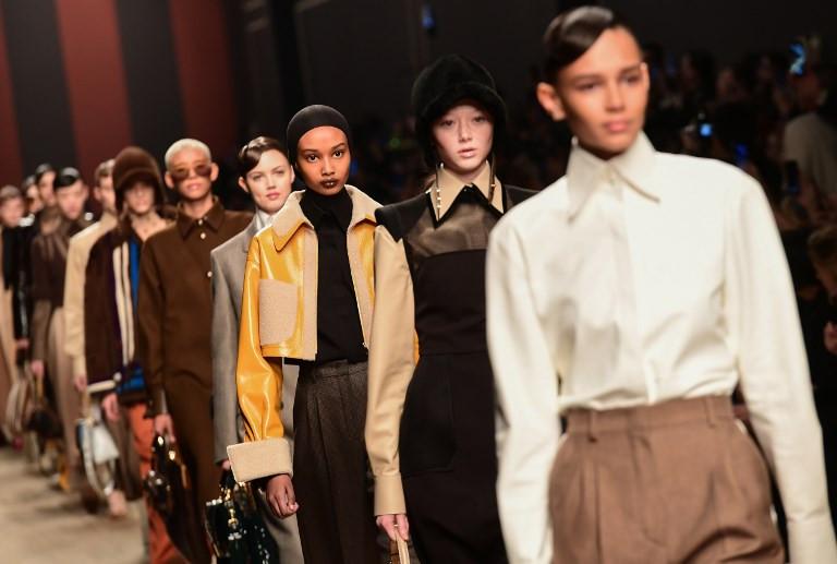 Fendi's fashion farewell to Lagerfeld