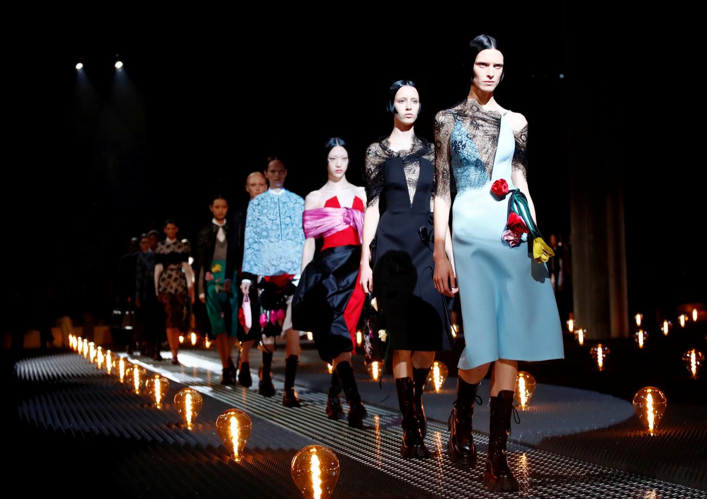 Prada contrasts two sides of romance at Milan Fashion Week