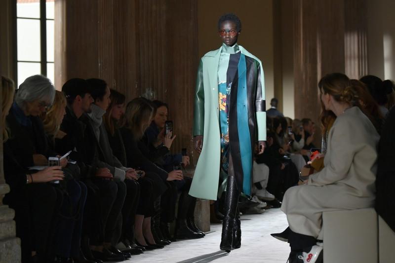 Shoes and stripes: Brits present Ferragamo, Cavalli shows