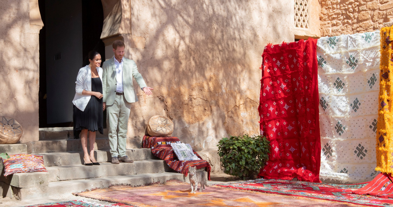 Harry and Meghan wrap up Morocco visit with tea ceremony hosted by king