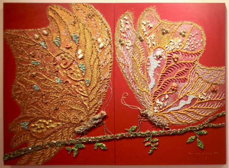 Flutter by: Artist Sasya Tranggono is showcasing 10 butterfly-themed works at the exhibition, which runs until March 10.