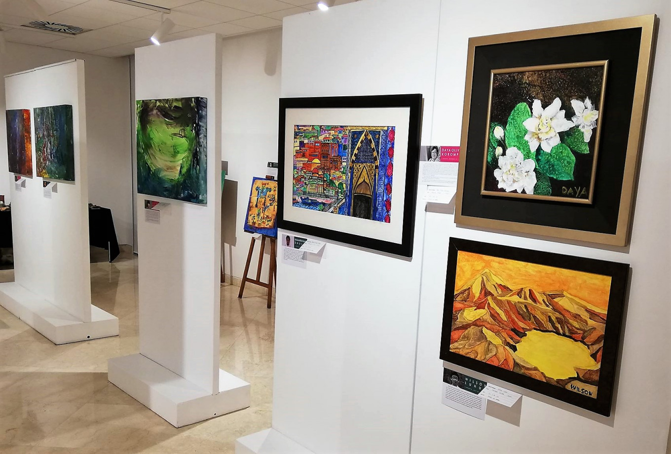 Speaking through Color: Exhibition showcases paintings by artists with special needs