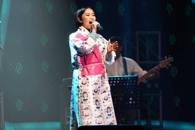 Radhini performs at the Jakarta International BNI Java Jazz Festival at JIExpo Kemayoran in North Jakarta on March 2, 2019.