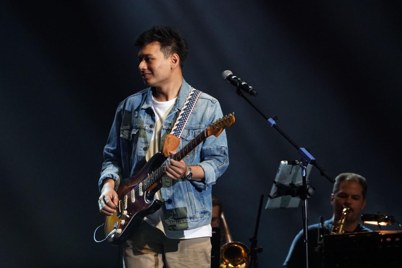 Rendy Pandugo performs at the Jakarta International BNI Java Jazz Festival at JIExpo Kemayoran in North Jakarta on March 2, 2019.
