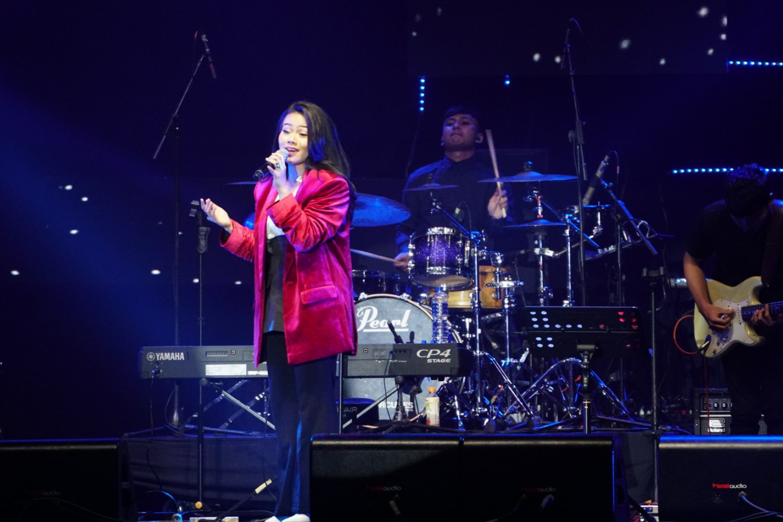 Yura Yunita performs at the Jakarta International BNI Java Jazz Festival at JIExpo Kemayoran in North Jakarta on March 2, 2019.