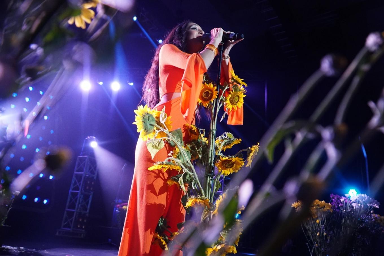 Raveena performs at the Jakarta International BNI Java Jazz Festival at JIExpo Kemayoran, North Jakarta, on March 1, 2019.