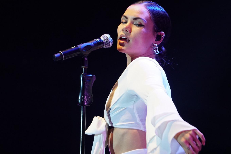 Sinead Harnett performs at the Jakarta International BNI Java Jazz Festival at JIExpo Kemayoran in North Jakarta on March 3, 2019.