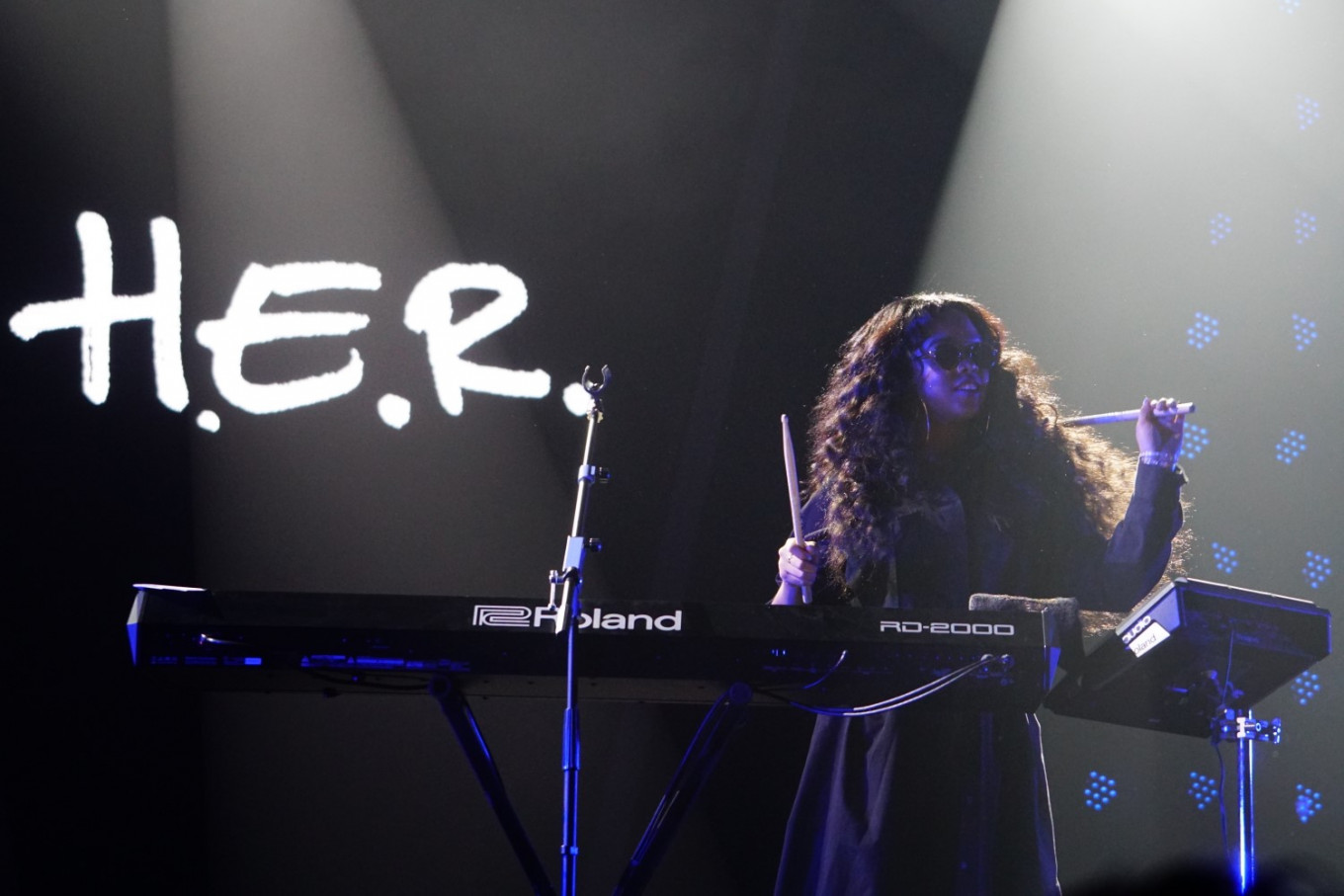 H.E.R. performs at the Jakarta International BNI Java Jazz Festival at JIExpo Kemayoran in North Jakarta on March 1, 2019.