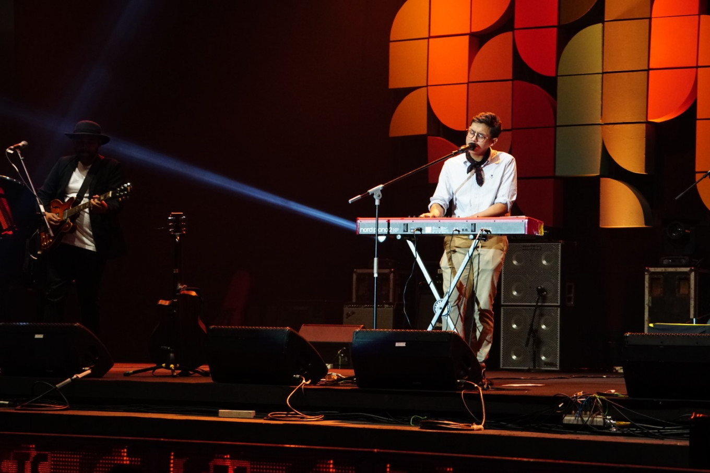Ardhito Pramono performs at the Jakarta International BNI Java Jazz Festival at JIExpo Kemayoran, North Jakarta, on March 1, 2019.
