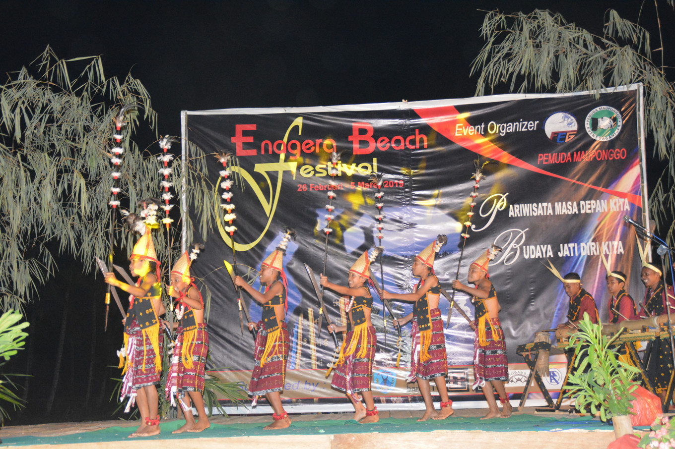 The 'todagu' dance performed on stage.