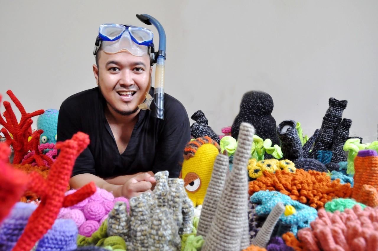 Mulyana brings underwater world to Hermès window display in Singapore