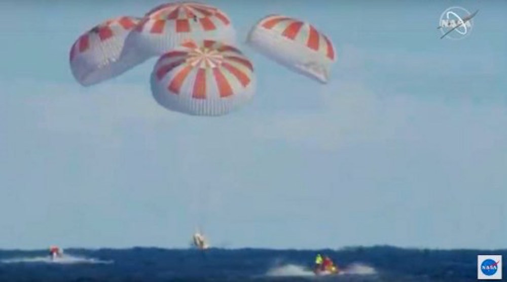 Historic test flight for Space X Crew Dragon