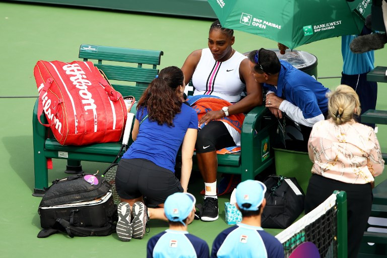 Illness ends Serena's Indian Wells bid, No. 2 Halep advances