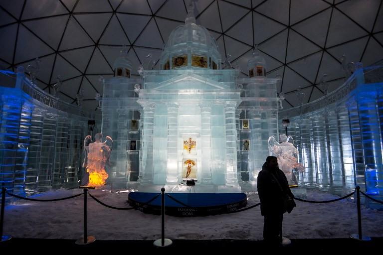 Slovakia's ice church draws visitors closer to heavens