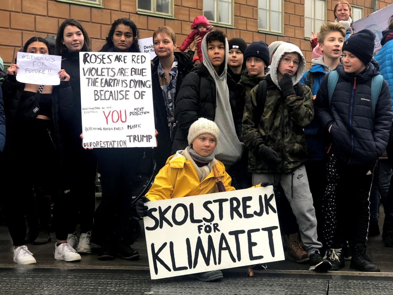 Swedish student Greta's climate 'school strike' goes global