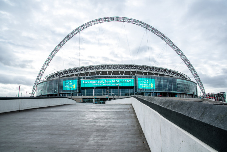 Wembley Stadium is the largest soccer stadium in the United Kingdom.