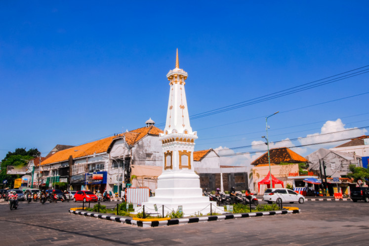 Tugu Jogja (Yogyakarta Monument), the city's iconic landmark.