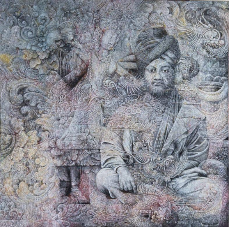 Vivekananda Lines' by Balinese artist Wayan Redika is on display at Art[i]Factual in New Delhi. (Courtesy of/Wayan Redika)