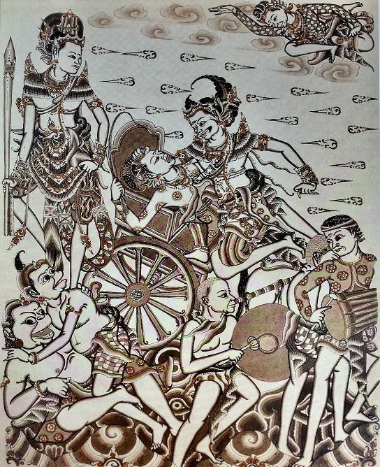 Matinya Dursasana : Mahabharata (The death of Dursasana: Mahabharata) by I Gusti Nyoman Lempad