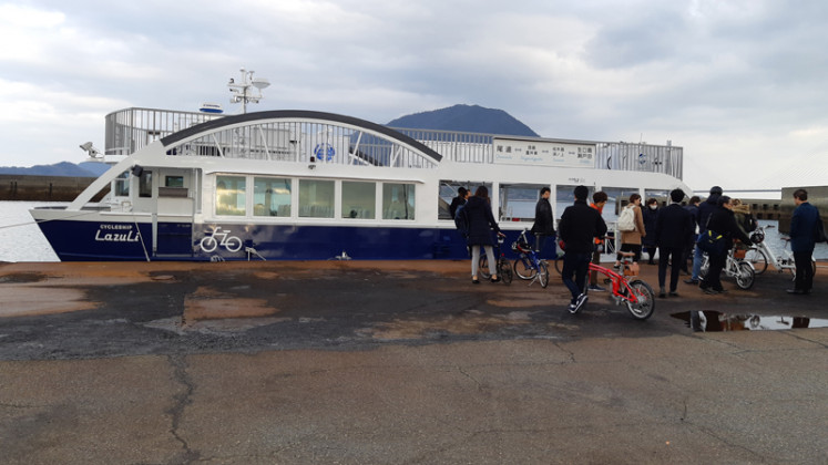 Cycling heaven: Cyclist-friendly ferries and lodgings can be found along the Shimanami Kaido cycling route.