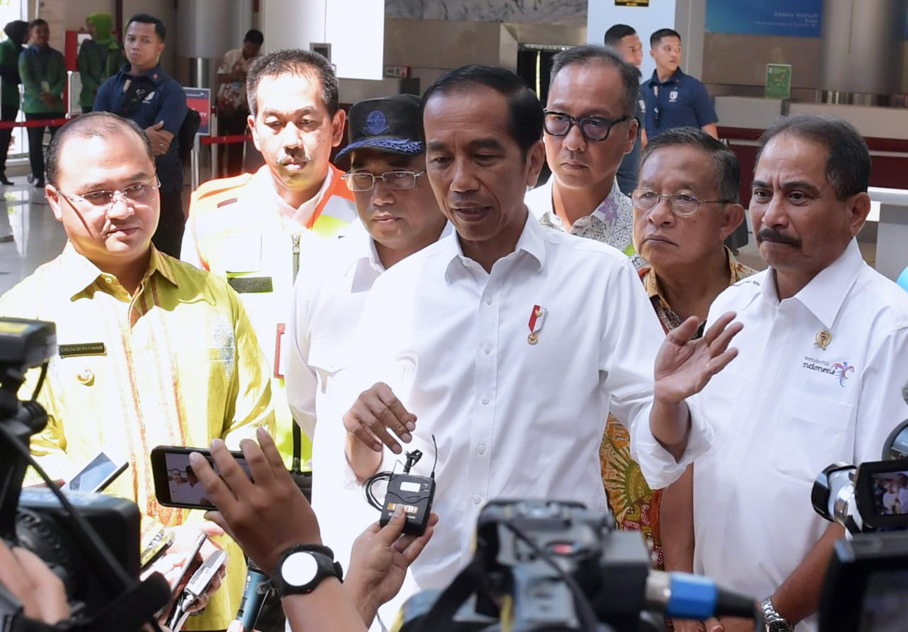 Jokowi inaugurates airport in Pangkalpinang
